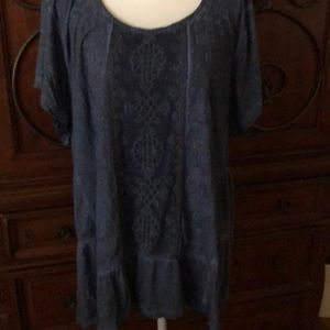 Style and Co blue top